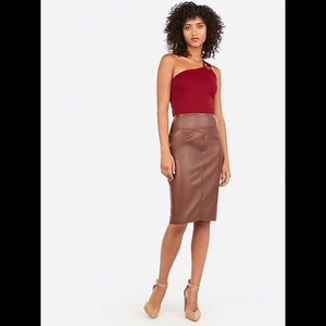 ❌NWT Express Vegan Leather Seamed Pencil Skirt~6❌